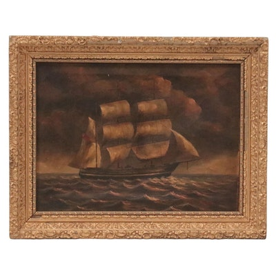 Oil Painting of Ship, Late 19th-Early 20th Century
