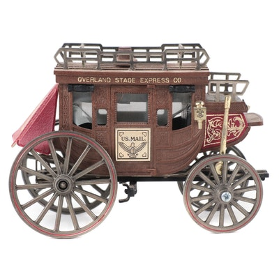 Overland Stage Express Co. U.S. Mail Western Stagecoach
