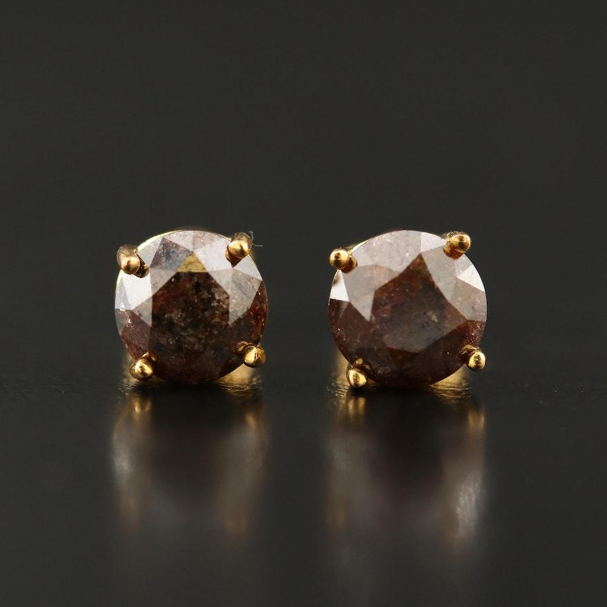 Sterling 3.00 CTW Diamond Stud Earrings
