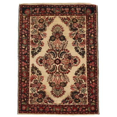 3'10 x 5'2 Hand-Knotted Persian Darjazin Hamadan Area Rug