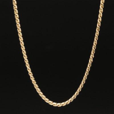 Balestra Vintage Italian 14K Serpentine Chain Necklace
