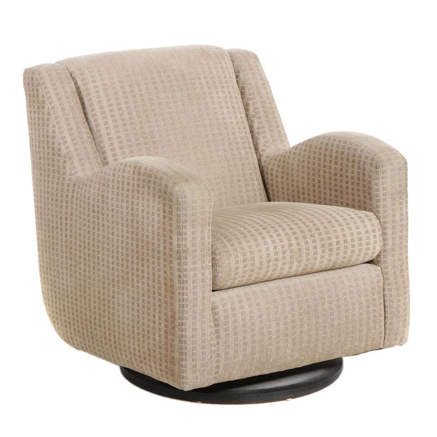 Directional Furniture Modernist Style Upholstered Swivel Rocker