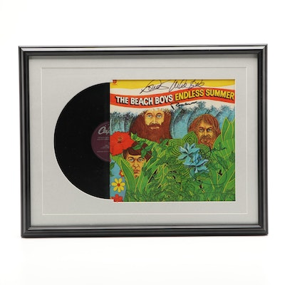 """The Beach Boys """"Endless Summer"""" Signed Album Cover, Matted and Framed"""