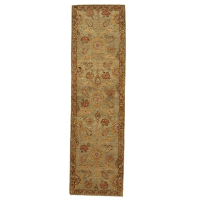 2'10 x 9'10 Hand-Knotted Indian Agra Carpet Runner