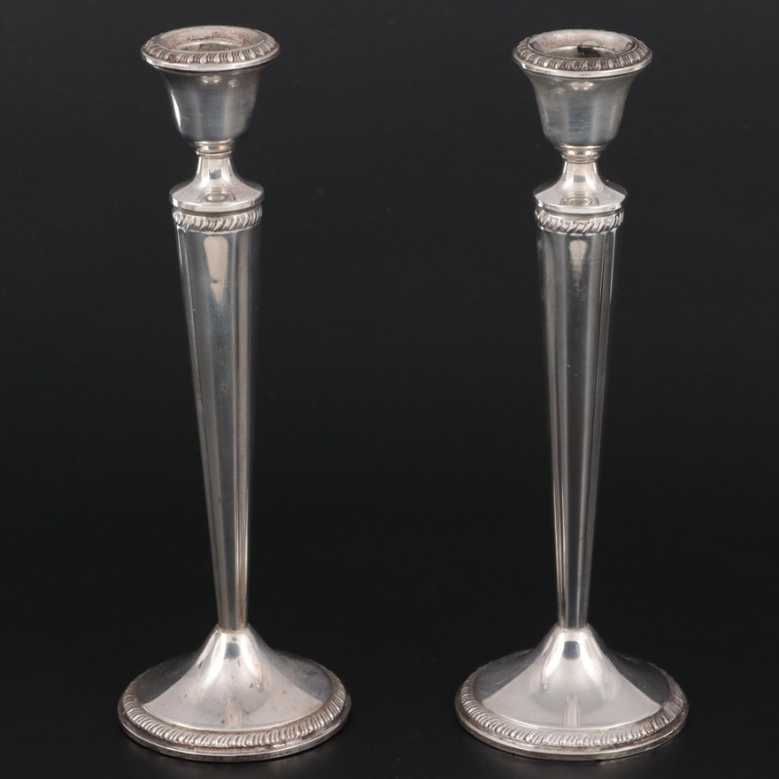 Crown Sterling Silver Candlesticks