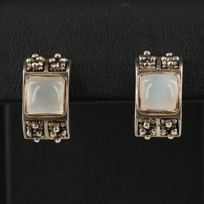 Michael Dawkins Sterling Silver Chalcedony Earrings