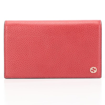 Gucci Betty Wallet On Chain in Red Calfskin Leather
