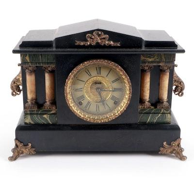 E. Ingraham Co. Adamantine Mantel Clock