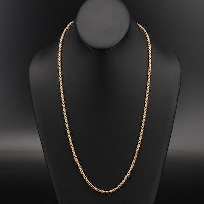 10K Box Chain Necklace
