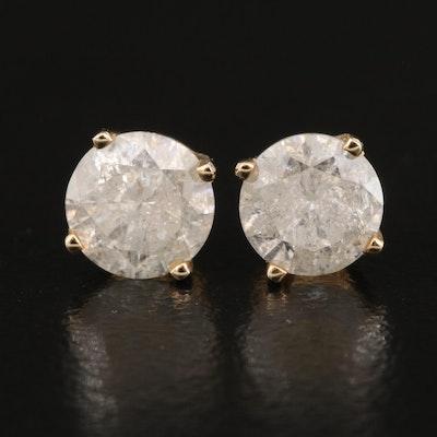 14K 1.22 CTW Diamond Stud Earrings
