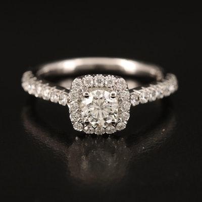 14K Diamond Ring with Hidden Diamond