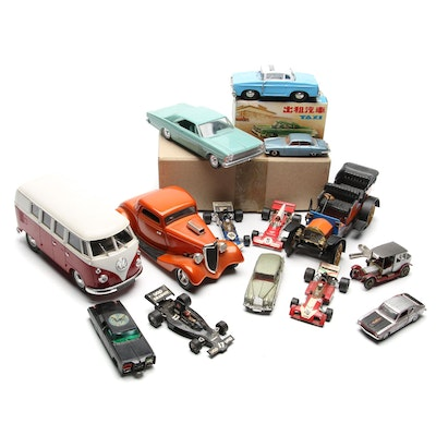 Schuco, Solido, Ertl, Dinky, Corgi, and More Diecast and Plastic Toy Vehicles