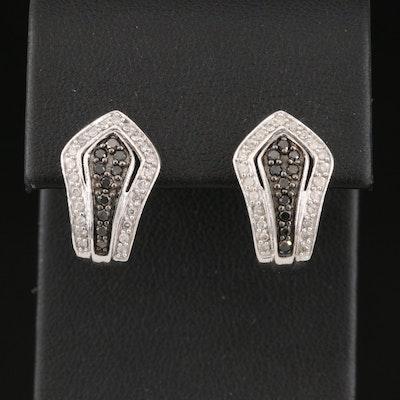 """10K Diamond """"J"""" Hoop Earrings"""