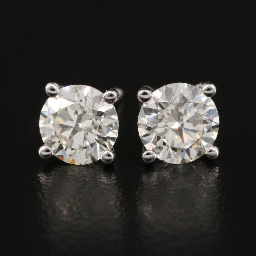 14K 1.81 CTW Diamond Stud Earrings