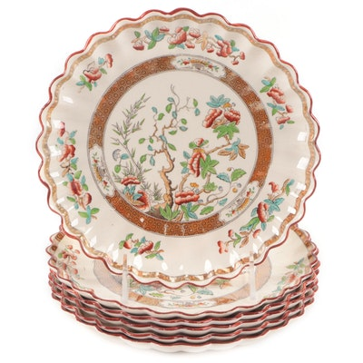 "Copeland ""Indian Tree"" Ceramic Plates, Mid to Late 19th Century"