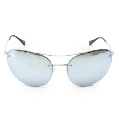 Prada SPS51R Rimless Aviator Sunglasses