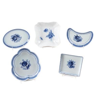 "Royal Copenhagen ""Blue Flowers"" Porcelain and ""Tranquebar Blue"" Faïence Dishes"