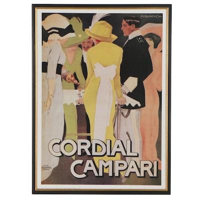 "Offset Lithograph After Marcello Dudovich ""Cordial Campari"""