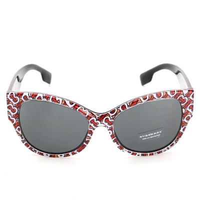 Burberry B 4294 Monogram Print Butterfly Sunglasses with Case
