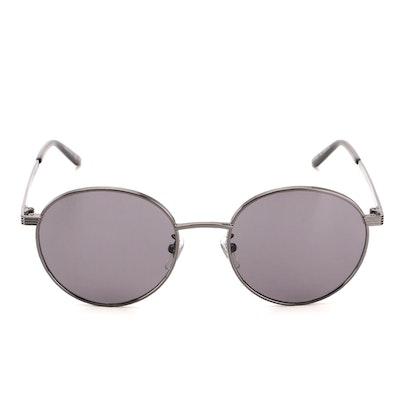 Gucci GG0944SA Round Sunglasses in Grey Ruthenium with Case