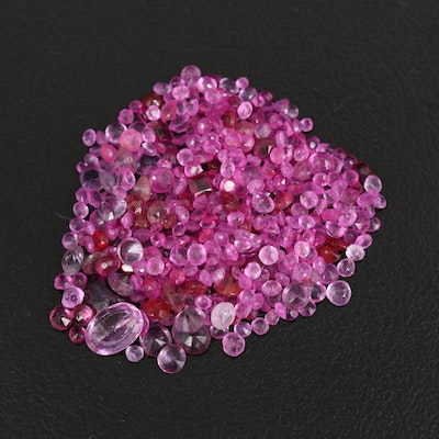 Loose Mixed 17.97 CTW Ruby and Sapphire