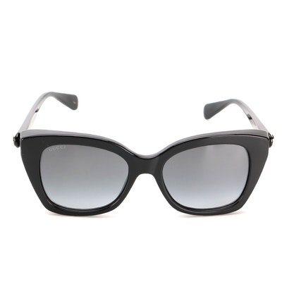 Gucci GG0921S Modified Cat Eye Sunglasses in Black with Case