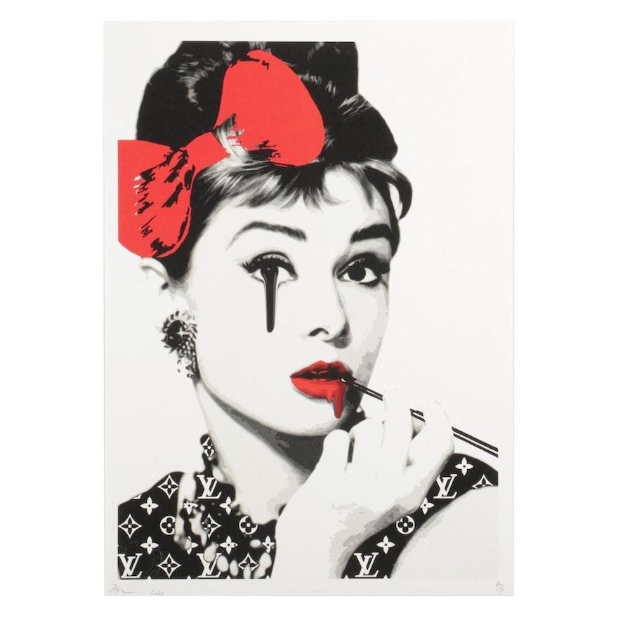 "Death NYC Pop Art Graphic Print ""Audrey Eye Drip R,"" 2020"