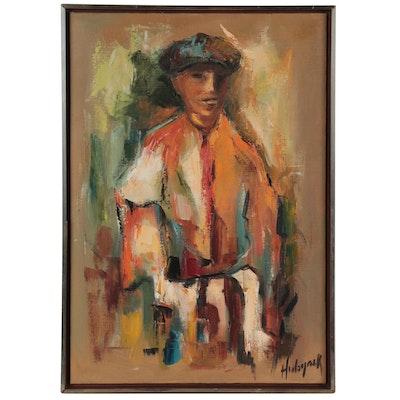 "Louise Hubyack Oil Painting ""The Toreador,"" 1965"