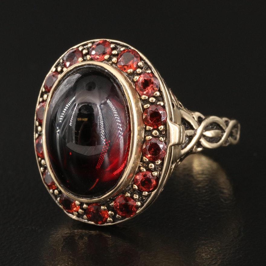 10K Garnet Poison Ring