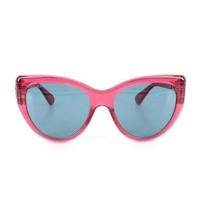 Gucci GG0877 Modified Cat Eye Sunglasses with Black Velvet Case