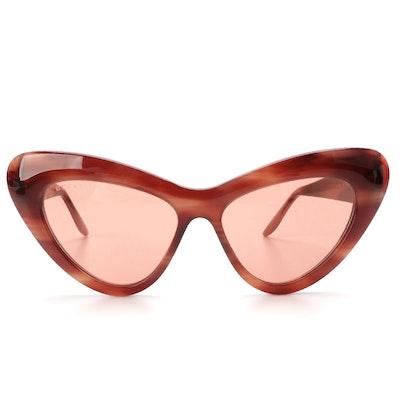 Gucci GG0895S Cat Eye Sunglasses with Black Velvet Case