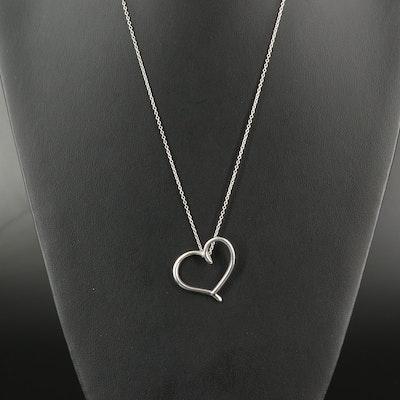 John Lennon Signed Sterling Heart Pendant Necklace