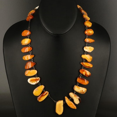 Mutton Fat Amber Necklace