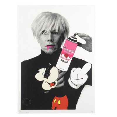 """Death NYC Pop Art Graphic Print """"Warhol Mouse Soup Pink,"""" 2020"""