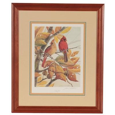 "John A. Ruthven Offset Lithograph ""Early Bird,"" 1990"