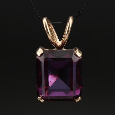 14K Color Change Sapphire Pendant