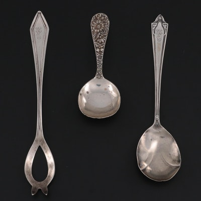 """S. Kirk & Son """"Repoussé"""" Baby Spoon and Manchester Sterling Silver Flatware"""