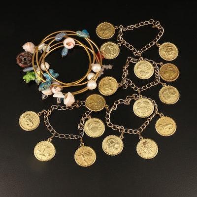 Horoscope Zodiac Charm Bracelets and Beaded Bangles