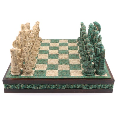 Chinese Wood and Composite Chess Set