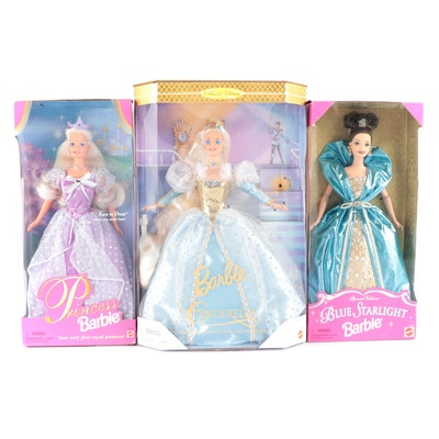 "Mattel Barbie ""Blue Starlight"", ""Princess Barbie"" and Other Dolls"