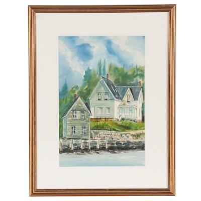 "Watercolor Painting ""Ezra's Barn"""