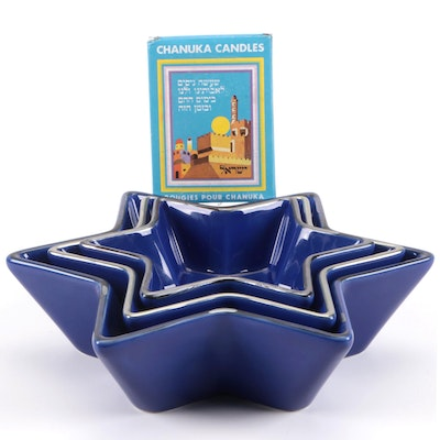 """Lenox """"The Seder Plate"""" Porcelain Plate with Other Judaica Décor"""