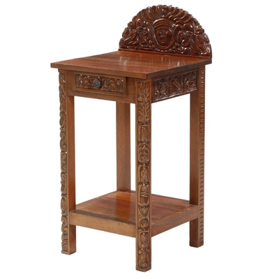 Handcrafted Mahogany Stained End Table
