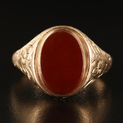 10K Carnelian Ring