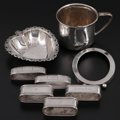 Fisher, Wee Folks, Watson, and Webster Sterling Silver Table Accessories