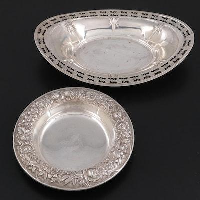 Meriden Britannia Co. Sterling Silver Pierced Bowl with S. Kirk & Son Bowl