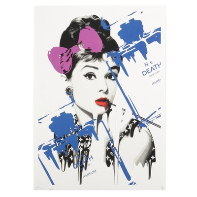 "Death NYC Pop Art Graphic Print ""Audrey No.6 Pk B,"" 2020"