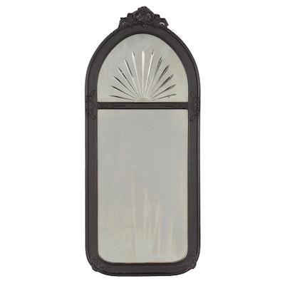 Victorian Ebonized Woode Elongated Wall Mirror, Early 20th Century