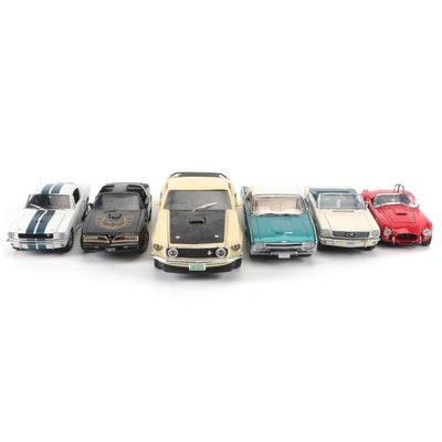 Diecast Shelby Cobra 427, 1977 Pontiac Trans Am, 1966 and Other Mustangs, More