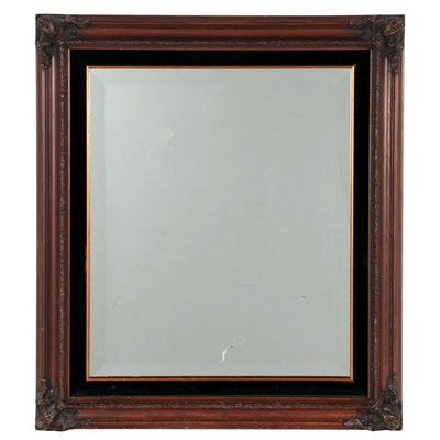 Wooden Framed Rectangular Wall Mirror, Late 20th to 21st Century